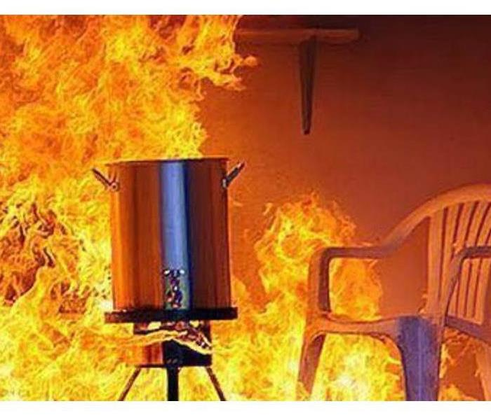 Fire Damage Turkey Frying Safety Tips
